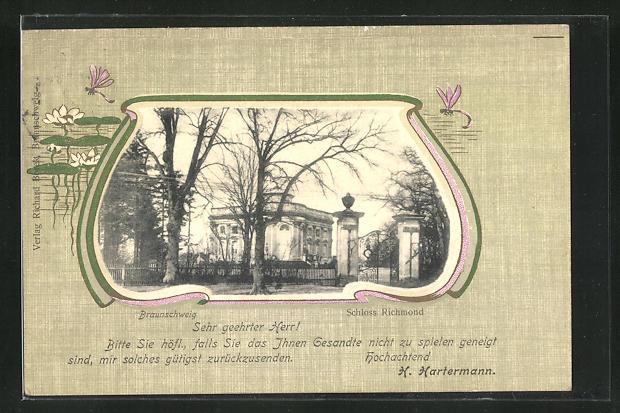 Passepartout-AK Braunschweig, Schloss Richmond 0