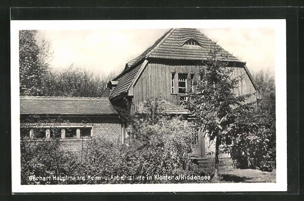 AK Kloster a / Hiddensee, Gerhart Hauptmanns Heim- u. Arbeitsstätte 0