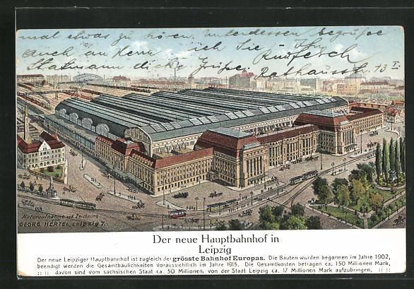 AK Leipzig, Der neue Hauptbahnhof 0