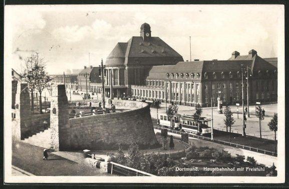 AK Dortmund, Hauptbahnhof mit Freistuhl 0