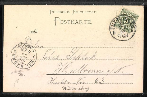 AK Königswinter, Teilansicht und Rhein 1