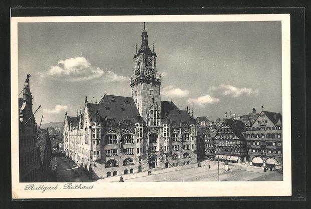 AK Stuttgart, Rathaus 0