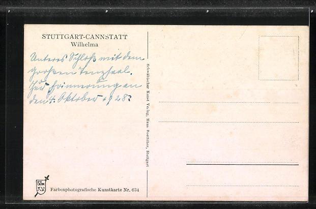 AK Stuttgart-Cannstatt, Wilhelma 1