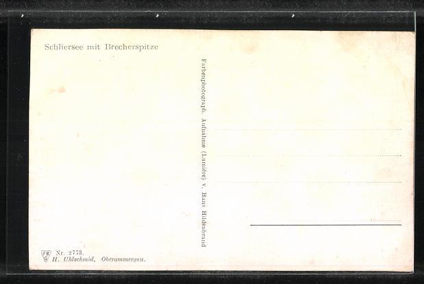 AK Schliersee, Ortsansicht mit Brecherspitze 1