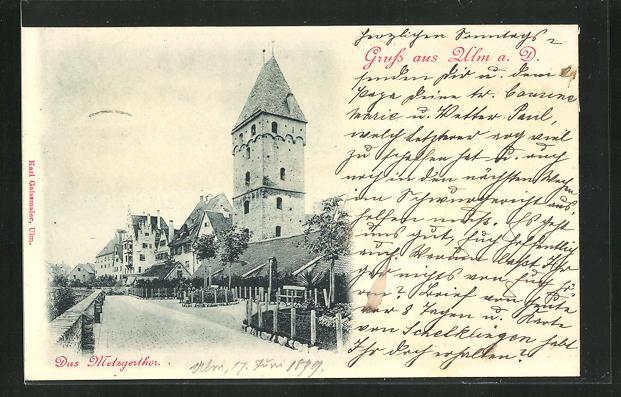 AK Ulm a. D., Das Metzgertor 0
