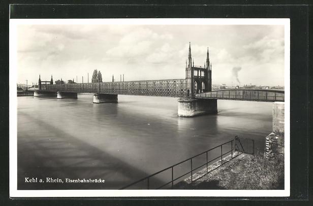 AK Kehl a. Rhein, Eisenbahnbrücke 0