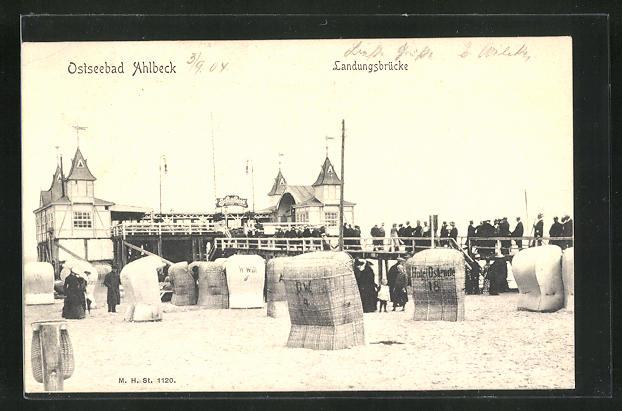 AK Ahlbeck / Ostseebad, Landungsbrücke 0