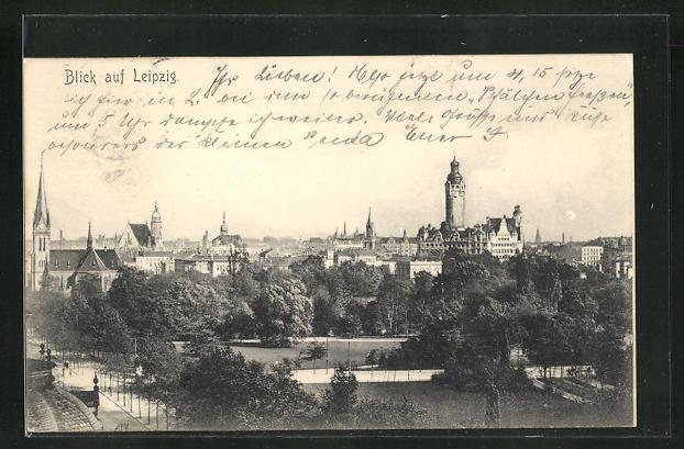 AK Leipzig, Blick auf den Ort 0