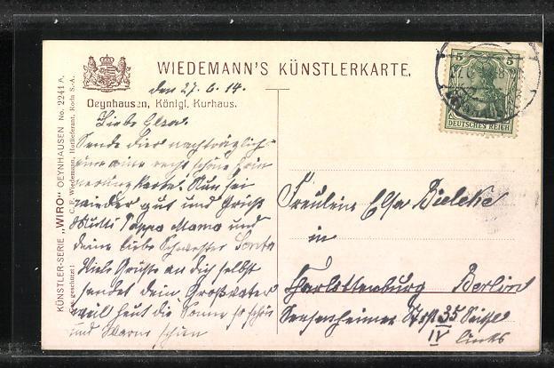 AK Oeynhausen, Königliches Kurhaus 1