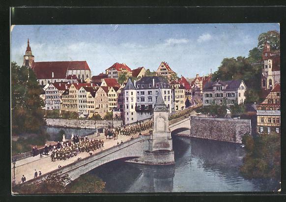 AK Tübingen a. N., Partie mit Eberhardbrücke 0