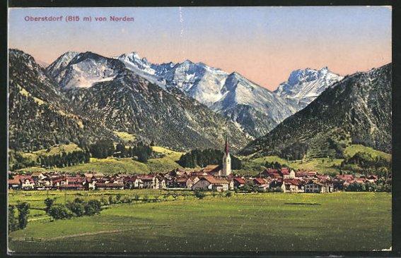 AK Oberstdorf, Ortsansicht von Norden 0