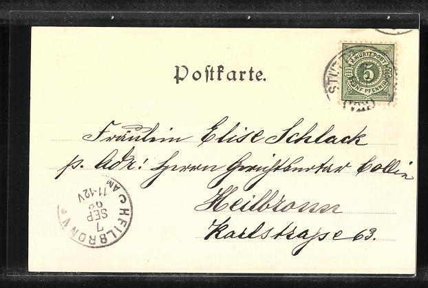 AK Stuttgart, Eberharddenkmal 1