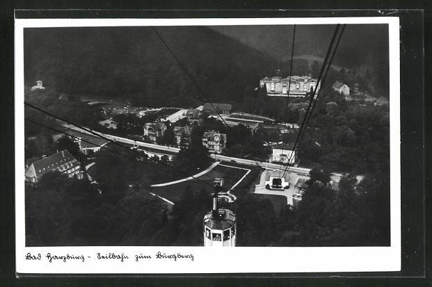 AK Bad Harzburg, Seilbahn zum Burgberg 0