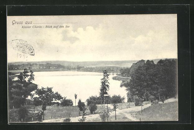 AK Chorin, Kloster Chorin, Blick auf den See 0