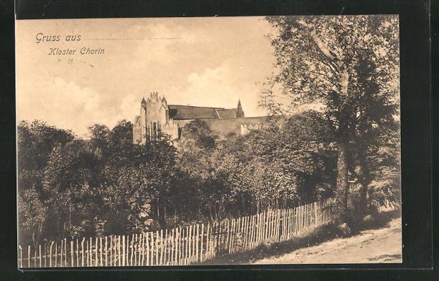 AK Chorin, Blick auf das Kloster 0