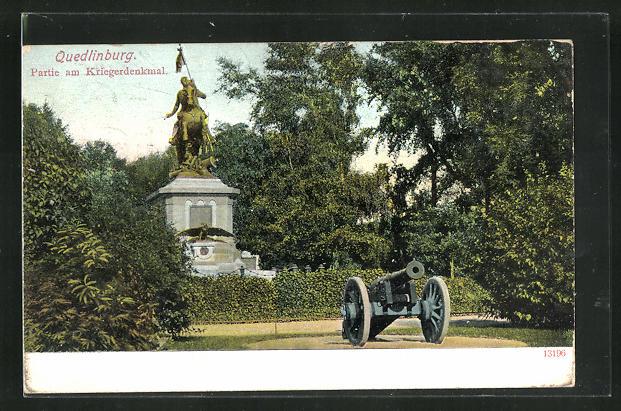 AK Quedlinburg, Partie am Kriegerdenkmal 0