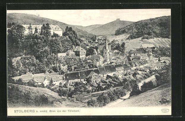 AK Stolberg a. Harz, Blick von der Töllebank 0