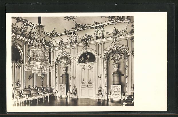 AK Marksuhl, Schloss Wilhelmsthal, Tanzsaal, Innenansicht 0