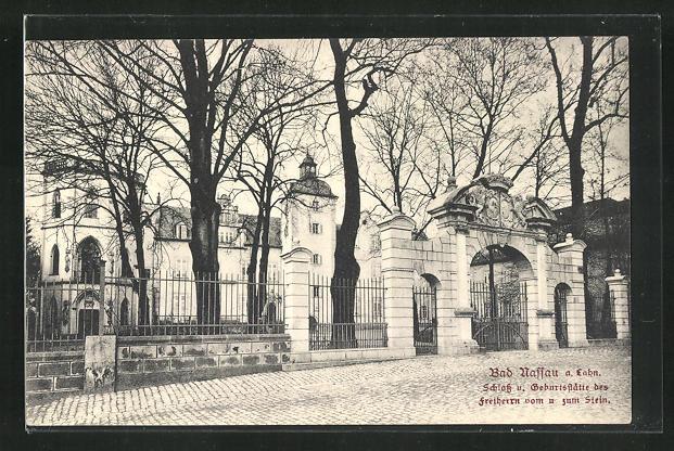 AK Bad Nassau a. Lahn, Schloss und Geburtsstätte des Freiherrn vom und zum Stein 0