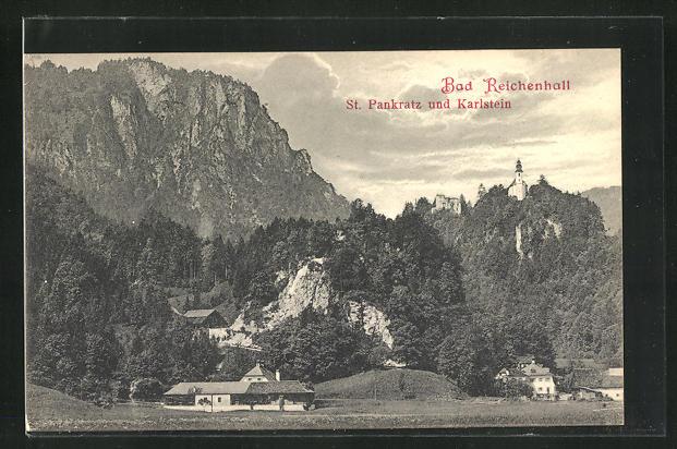 AK Bad Reichenhall, St. Pankratz und Karlstein 0