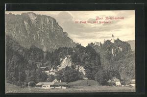 AK Bad Reichenhall, St. Pankratz und Karlstein