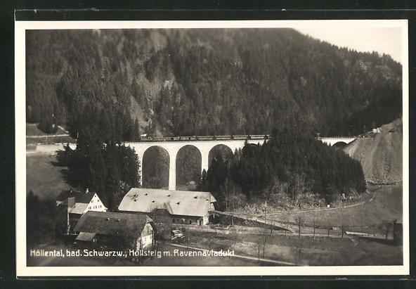 AK Höllental / Bad. Schwarzwald, Höllsteig mit Ravennaviadukt 0