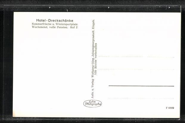 AK Breitenbach, Hotel Dreckschänke im Winter 1