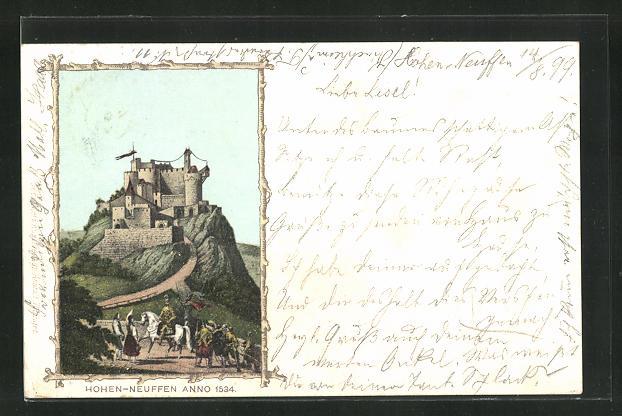 AK Hohen-Neuffen, Burg anno 1534 0