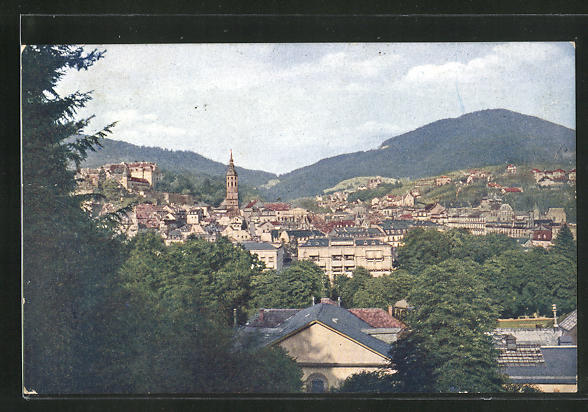 AK Baden-Baden, Panorama der Stadt 0