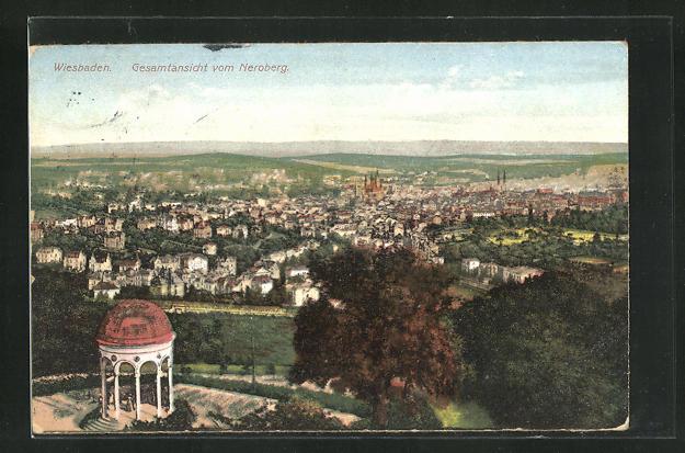 AK Wiesbaden, Gesamtansicht vom Neroberg 0