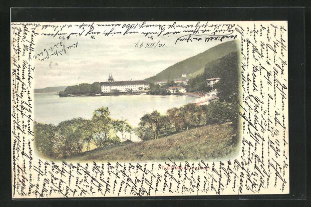 AK Tegernsee, Blick zum Kloster 0