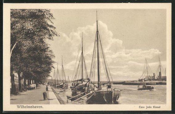 AK Wilhelmshaven, Ems Jade Kanal 0