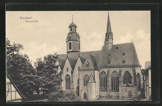 AK Butzbach, Ansicht der Markuskirche 0