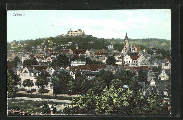 AK Coburg, Panorama der Stadt 0