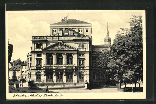 AK Altenburg, Skatstadt, Landestheater mit  0
