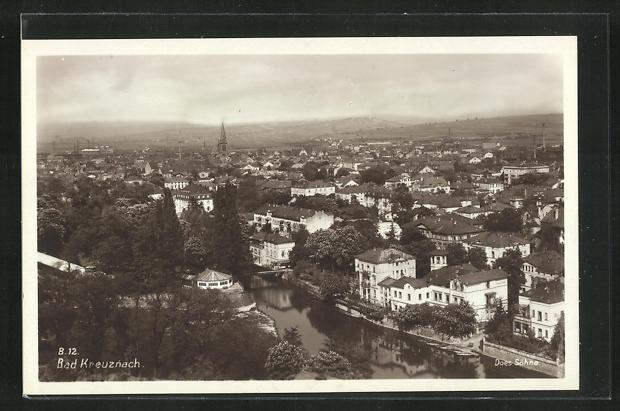 Foto-AK Bad Kreuznach, Panorama der Stadt 0