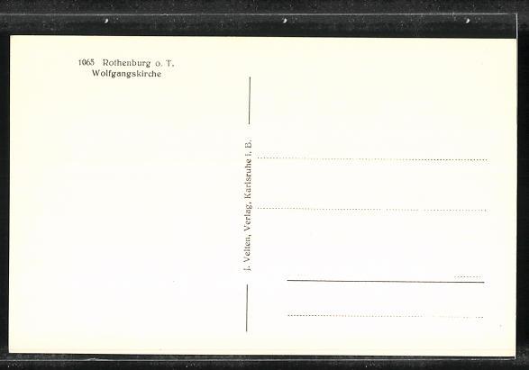 AK Rothenburg o. T., Wolfgangskirche 1