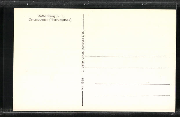 AK Rothenburg o. T., Ortsmuseum und Marien-Apotheke, Herrengasse 1