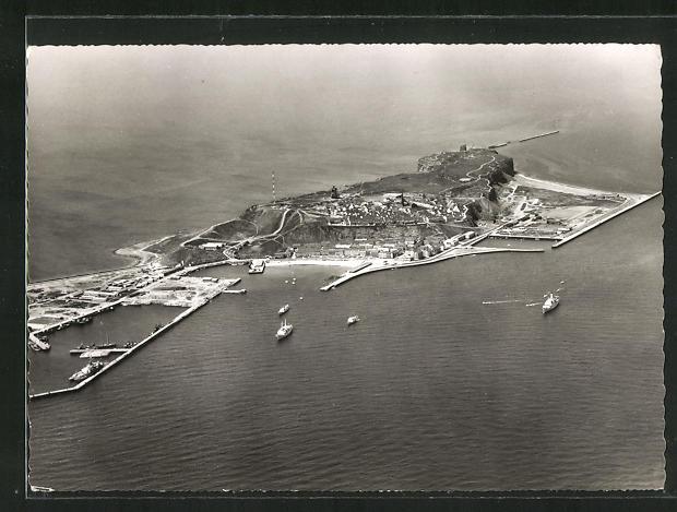 AK Helgoland, Blick von Südosten auf die Insel 0