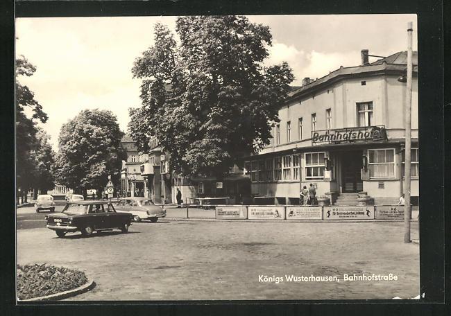 AK Königs Wusterhausen, Bahnhofshotel in der Bahnhofstrasse 0
