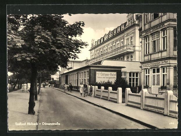 AK Ahlbeck / Seebad, HO Ostsee-Hotel in der Dünenstrasse 0
