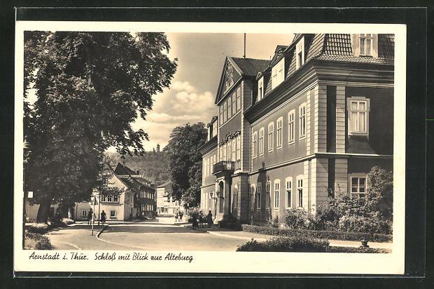 AK Arnstadt i. Thür., Schloss mit Blick zur Alteburg 0