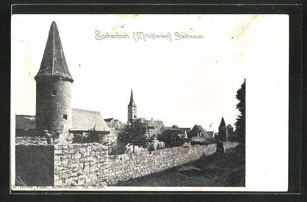 AK Eschenbach / Mittelfranken, Stadtmauer 0