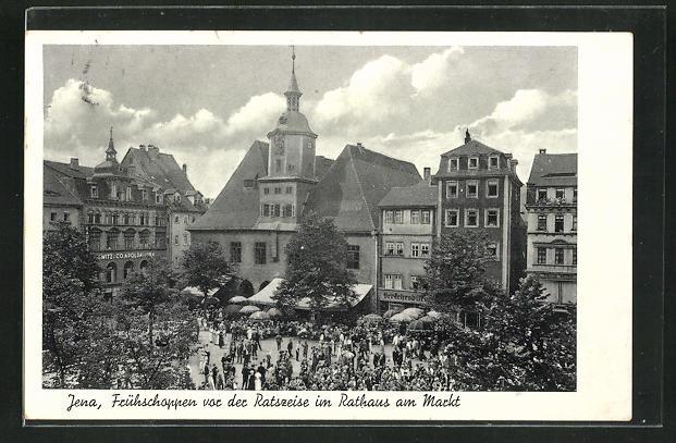 AK Jena, Frühschoppen vor der Ratszeise im Rathaus am Markt 0