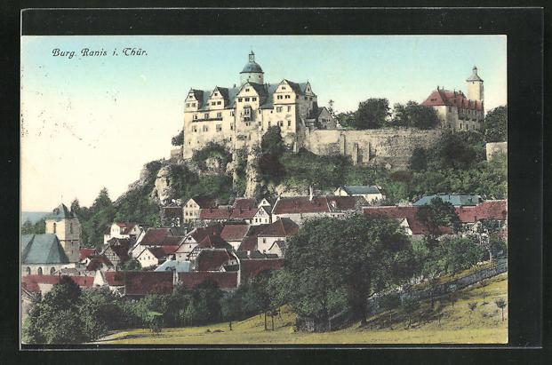 AK Ranis i. Thür., Blick auf die Burg 0
