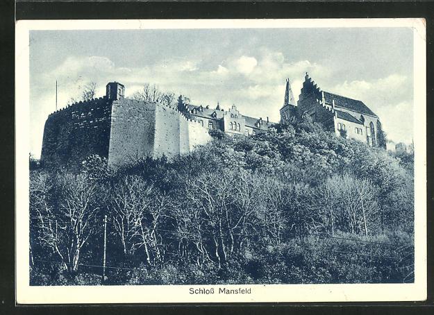 AK Mansfeld, Blick auf das Schloss 0