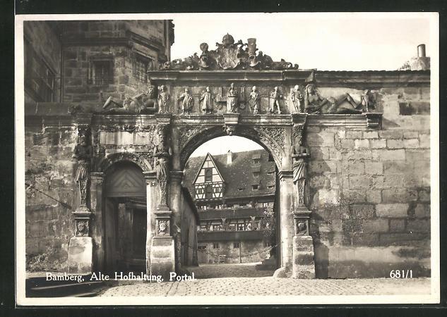 AK Bamberg, Alte Hofhaltung, Portal 0