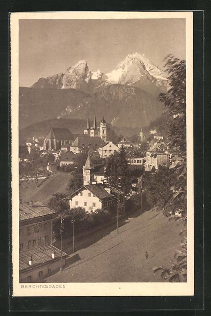 AK Berchtesgaden, Panoramablick vom Berg 0