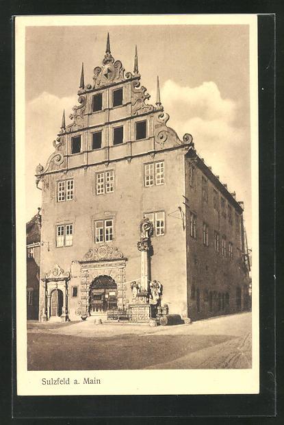 AK Sulzfeld a. Main, Rathaus, Vorderansicht 0