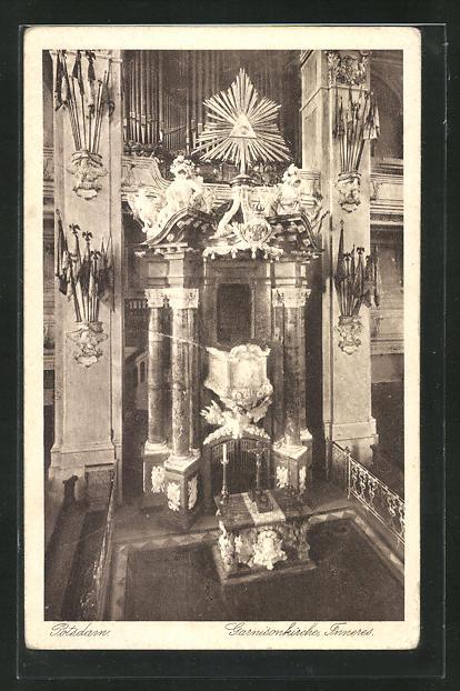 AK Potsdam, Inneres der Garnisonkirche 0